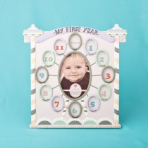 Circus tent baby frame - My First Year Collage