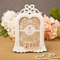 """Stunning 50 years gold anniversary frame 5"""" x 7"""""""