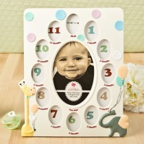 Giraffe and Elephant Baby Collage Frame from gifts by fashioncraft
