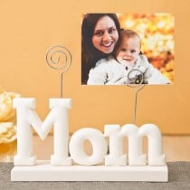 magnificent Rose white Mom photo holder from gifts by fashioncraft