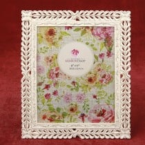 Magnificent Ivory with rose Gold lattice 8 x 10 frame