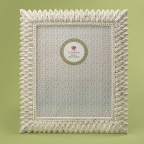 Brushed leaf ivory 8 x 10 frame from gifts by fashioncraft