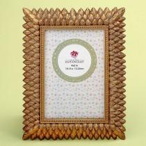 Brushed gold leaf design 4 x 6 frame