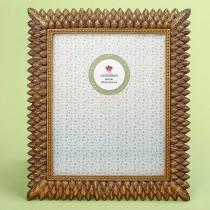 Brushed gold leaf design 8 x 10 frame