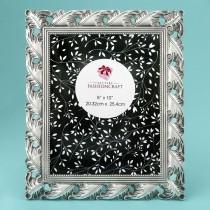 Exquisite Antique Silver Leaf design 8 x 10 frame