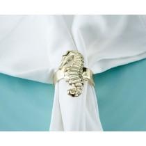 Gold Seahorse Napkin Ring (Set of 4)