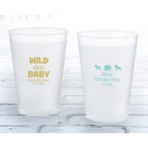 Personalized 12 oz. Frosted Flex Cup - Safari