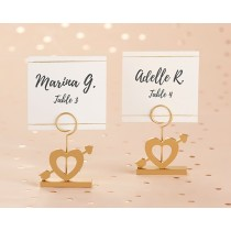 Cupid's Arrow Gold Place Card Holder (Set of 6)