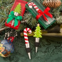 Happy holidays collection bottle stoppers