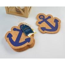 Nautical Anchor Cork Coaster (Set of 4)