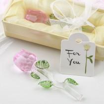 Exquisite Crystal Long stem pink rose