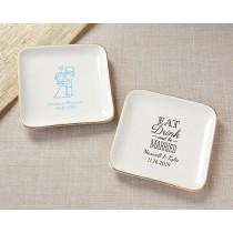 Personalized Trinket Dish - Wedding