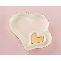 Double Heart Trinket Dish