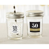 Personalized Mason Jar - Milestone Birthday (Set of 12)