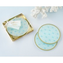 Seaside Escape Glass Coasters (Set of 2)
