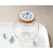 Personalized Glass Sphere Jar - Nautical Wedding (Set of 12)