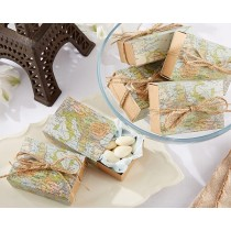 """Around the World"" Map Favor Box (Set of 24)"