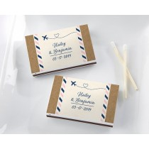 Personalized White Matchboxes - Travel and Adventure (Set of 50)
