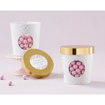 Ice Cream Favor Box - Gold Dot (Set of 12)