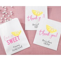 Personalized White Goodie Bags - Cheery and Chic (Set of 12)
