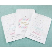 Personalized White Goodie Bags - So Sweet (Set of 12)
