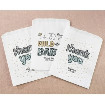 Personalized White Goodie Bags - Safari (Set of 12)