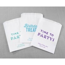 Personalized White Goodie Bags - Boozie Birthday (Set of 12)