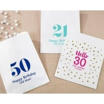 Personalized White Goodie Bags - Milestone Birthday (Set of 12)