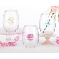 Personalized 9 oz. Stemless Wine Glass - Birthday For Her