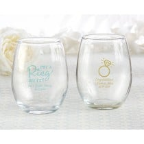 Personalized 9 oz. Stemless Wine Glass - Something Blue