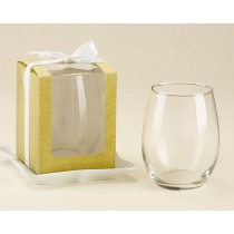 Gold 15 oz. Stemless Wine Glass Box (Set of 12)