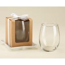 Kraft 15 oz. Stemless Wine Glass Box (Set of 12)