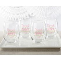Brunch Is Always A Good Idea 15 oz. Stemless Wine Glass (Set of 4)