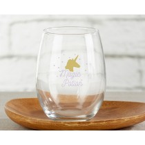 Enchanted Party 15 oz. Stemless Wine Glass (Set of 4)