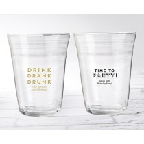 Personalized Party Cup Glass - Boozie Birthday