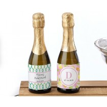 Personalized Mini Wine Bottle Labels - Cheery and Chic