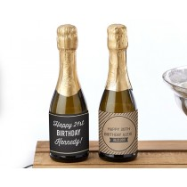 Personalized Mini Wine Bottle Labels - Boozie Birthday