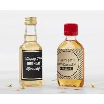 Personalized Mini Liquor Labels - Boozie Birthday