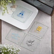 Stylish Coasters from Fashioncraft's Silkscreened Monogram Collection