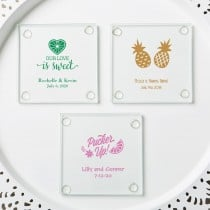 personalized stylish coasters - tropical design