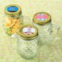 Personalized expressions Mini Pineapple glass mason jar - baby