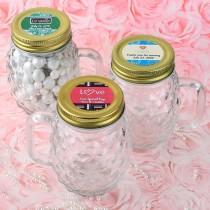 Personalized expressions Mini Pineapple glass mason jar - wedding