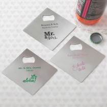 Design your own personalized collection Stainless steel coaster and bottle opener