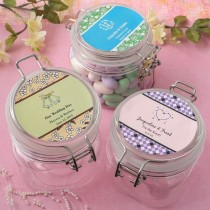 Personalized Expressions Collection 16 oz. Large clear Acrylic Apothecary Jar Favor