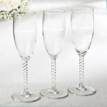 Elegant Champagne Flutes - Groomsman Design