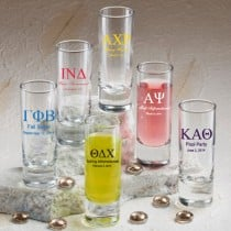 Shooter Glass: Greek Designs