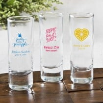Personalized Fun 2 Oz Shooter Glasses - Tropical Design