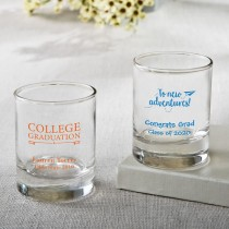 Personalized Shot glass or votive  - graduation design