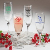 Champagne Flute - Holiday Designs (gift boxes available)