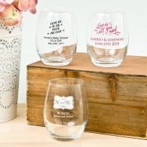 Expressions Collection 9oz Stemless Wine Glasses